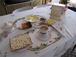 Frühstückstisch bei Frau Sofia in Moisés Ville