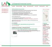Thumbnail der Website der Lateinamerikaforschung Austria